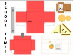 food papercraft template school time lunch papercraft by cutycandy27 on deviantart
