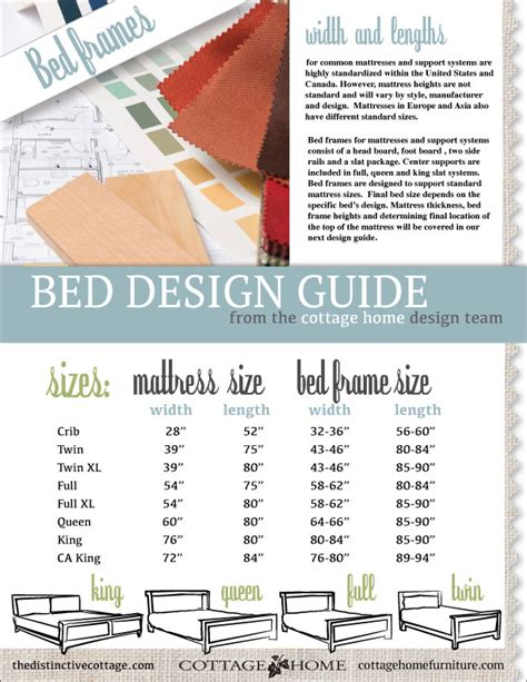 Bed Frame Sizes Chart Bed Frame Sizes Design Guide The Distinctive Cottage