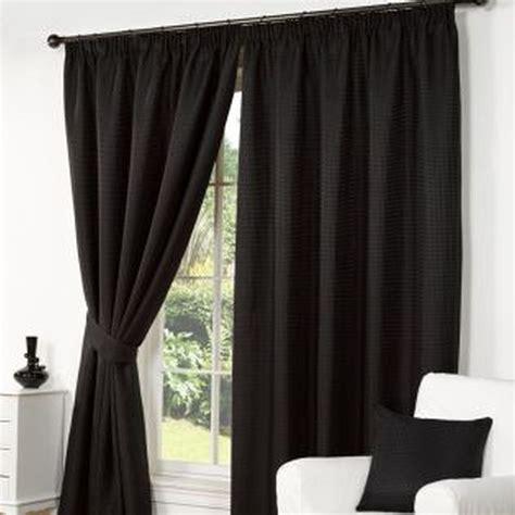 waffle curtains  width   drop black buy