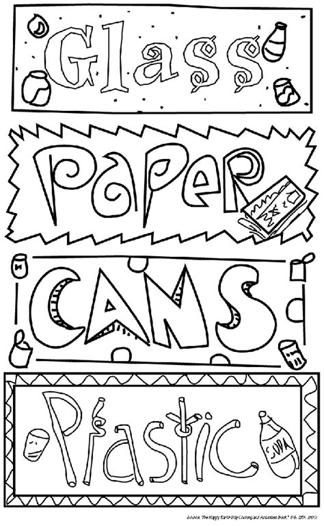 recycle coloring pages preschool troop leader mom getting started with girl scout daisies