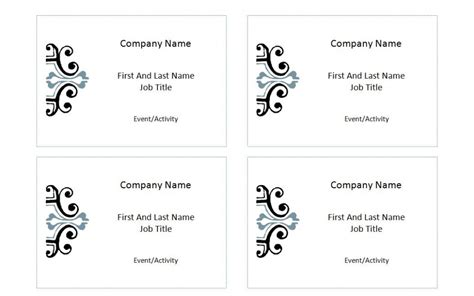 Avery Label 5395 Template Avery Name Badge Template