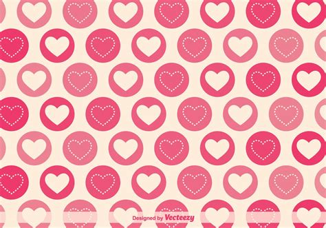 pattern heart vector geometric hearts vector pattern download free vector art