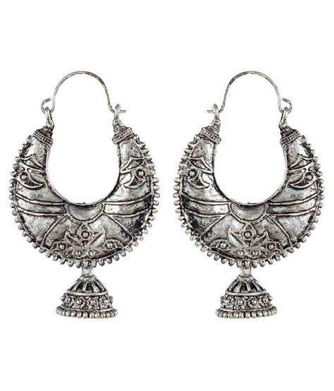 Metal Hoop Earrings crazytowear black metal metal hoop earring buy