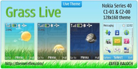 nokia c3 live weather themes grass live theme for nokia c1 01 c2 00 themereflex