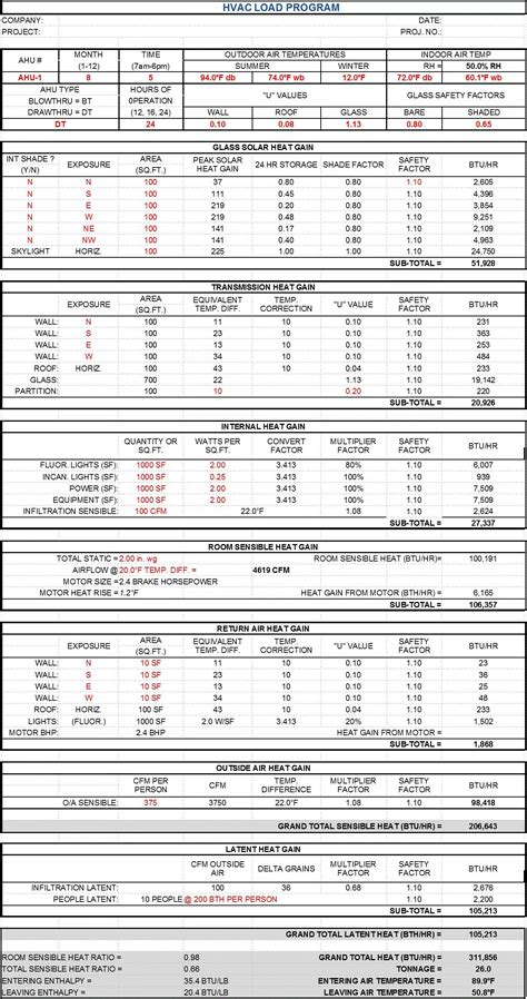 Residential Electrical Load Calculation Spreadsheet by Residential Load Calculation Spreadsheet Laobingkaisuo