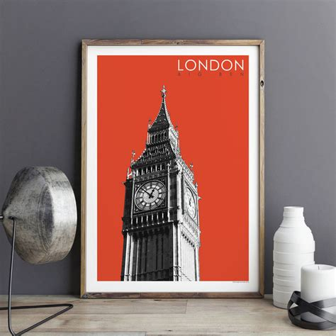 Lukisan Modern Big Ben print big ben travel poster gift bronagh kennedy prints