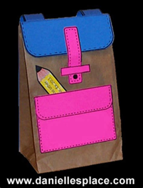 Paper Bag Arts And Crafts For - free paper lunch bag back to school backpack craft for