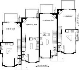 4 Story Townhouse Floor Plans by Townhouse Plans 4 Plex House Plans 3 Story Townhouse F