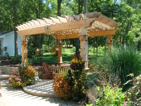 Backyard Landscape Structures Shade Structures Water Features Shawnee Landscaping