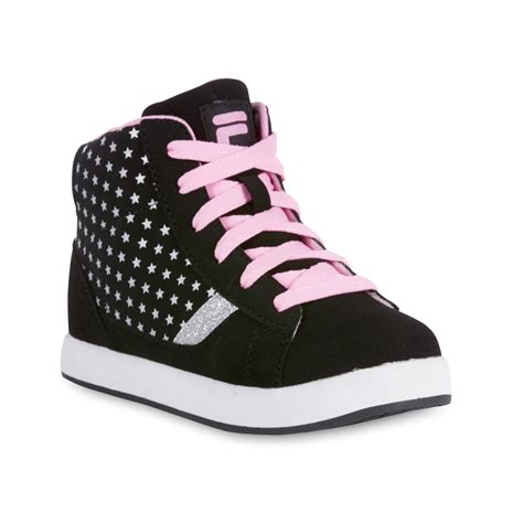 high top athletic shoes fila s dyana black high top athletic shoe