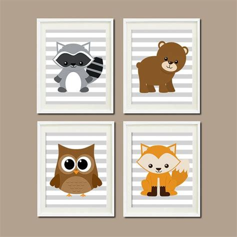 Woodland Creatures Nursery Decor Woodland Nursery Decor Woodland Animals Woodland Creatures Forest Animals Boy Nursery