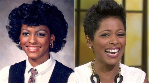 the today show tamara hall hair cut tamron hall gasps at the sight of an old school photo