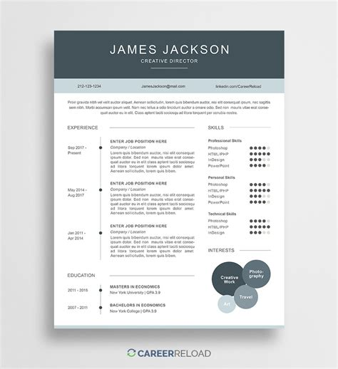 by template free free resume templates free resources for