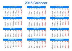 Free In Calendar Printable 2015 Calendar
