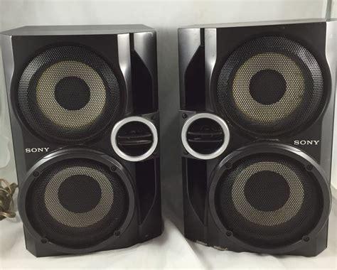 Speaker Sony Hometheater pair 2x sony ss rg40 speakers stereo hybrid dual woofer