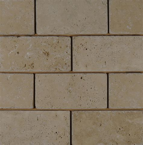 travertine ivory beige tumbled 3x6 subway tile