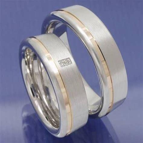 Verlobungsringe Silber Mit Diamant by Eheringe Shop Bicolor Trauringe 925 Silber Mit Diamant