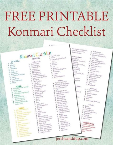 minimalism your declutter journey starts here books konmari checklist free printable follow me creative