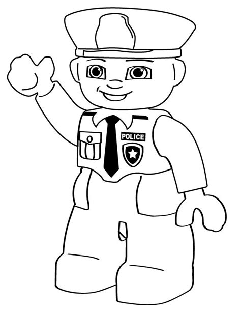 coloring page person police color pages az coloring pages