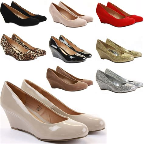 womens wedge shoes wedges high heels platform court pumps