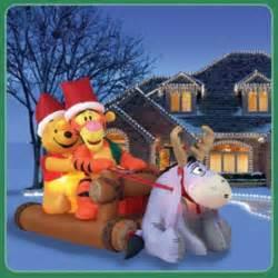 Winnie the pooh christmas yard inflatable
