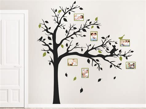 Wandtattoo Kinderzimmer Baum by Wandtattoo Fotorahmen Baum Mit Katze Wandtattoos De