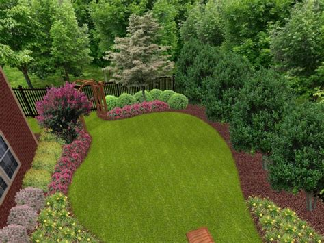Landscaped Backyard Ideas Landscaping Ideas For Front Yard And Backyard Home Improvement Directory