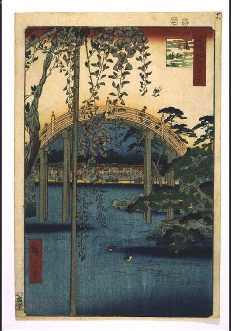hiroshige one hundred famous utagawa hiroshige one hundred famous views of edo precincts of kameido tenjin shrine edo