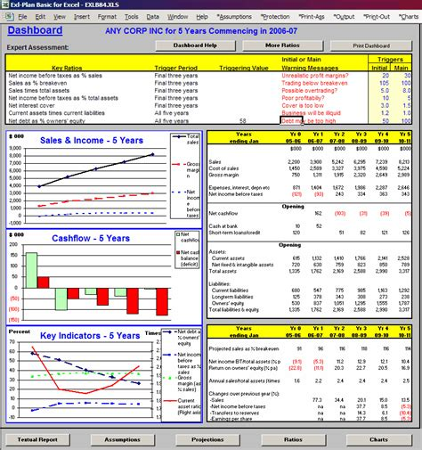 Financial Strategic Plan Template basic business plan software template financial