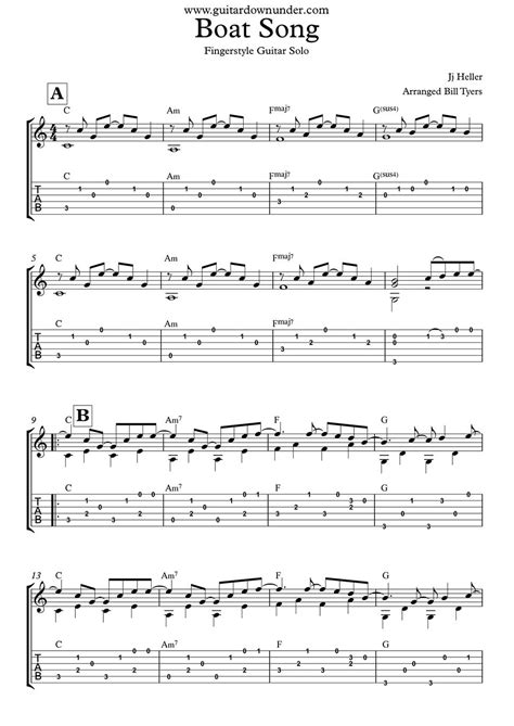 boat song tabs the boat song jj heller fingerstyle guitar solo tabs