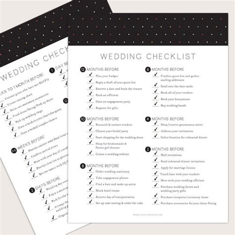 17 best ideas about wedding checklist template on