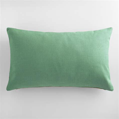 green herringbone linen lumbar pillow world market