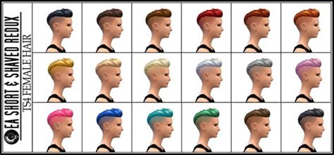 sims 4 hairstyle shaved side sims 4 hairs jorgha haq short shaved hairstyle with
