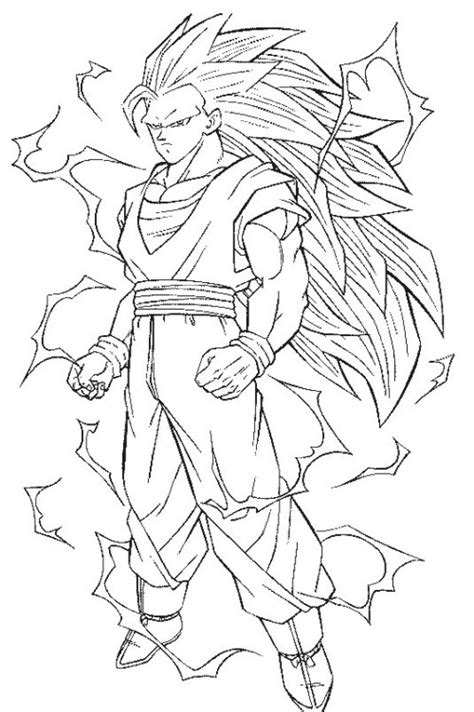 free coloring pages of goku super san