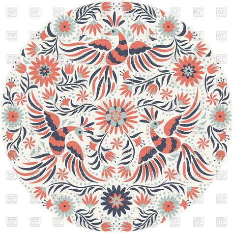 embroidery mexican mexican embroidery pattern vector image 114731