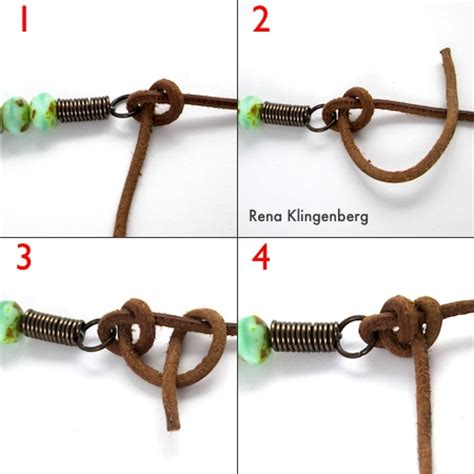 how to tie a beaded necklace rustic leather bead necklace tutorial half hitch