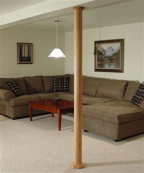 basement wrap lally column cover ideas pole wrap photo galleries