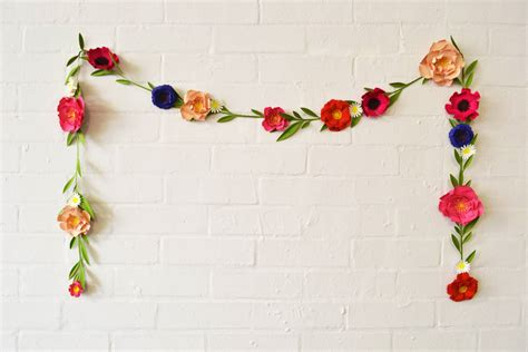 Garland With Paper Flowers - handmade paper flower garland by may contain glitter