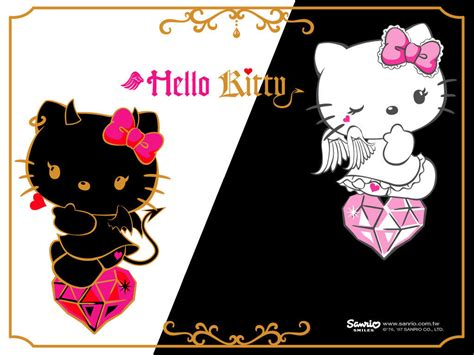 wallpaper hello kitty black and white hello kitty black and white wallpaper imagebank biz