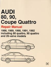online car repair manuals free 1992 audi quattro electronic toll collection audi repair manual audi 80 90 coupe quattro 1988 1992 bentley publishers repair manuals