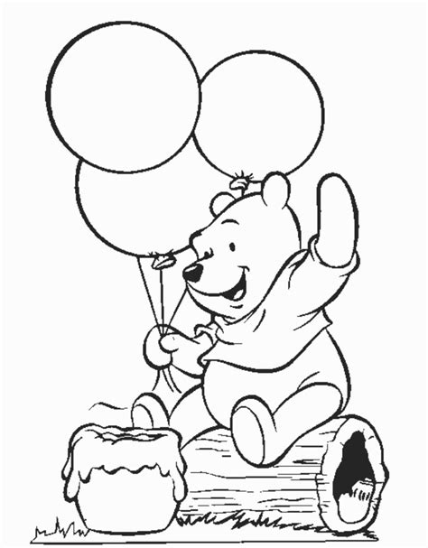 pooh pig coloring pages