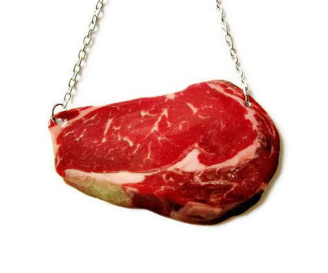 how to make steunk jewelry steak necklace sweet meats bbq food from thespangledmaker