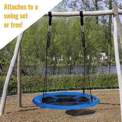 swing diameter 100cm blue round web mat rope nest swing tree straps ebay