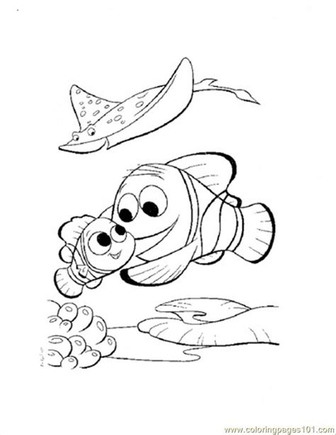 finding nemo coloring pages pdf nemo and marlin return home coloring page free finding