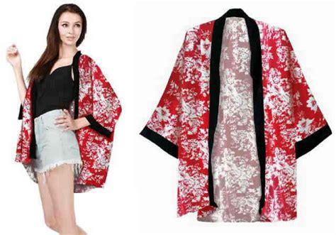 Cardigan Cewek Batik cardi kimono motif bunga blazer cewek model terbaru