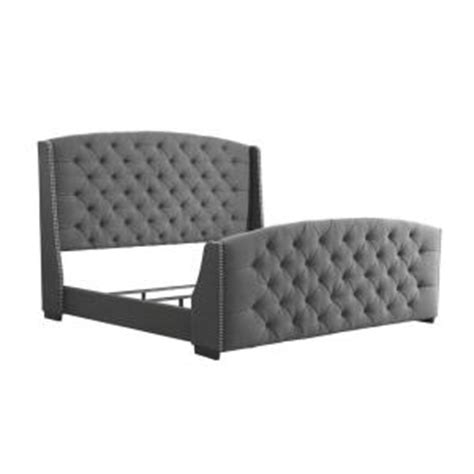 Footboard Meaning pri upholstered headboard and footboard in charcoal ds 2287 252 lc the home depot
