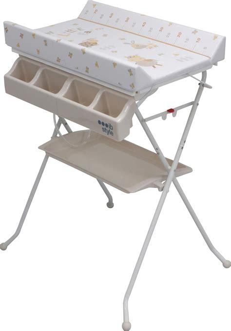 combi table a langer baignoire combi table 224 langer et bain pliable avec baignoire