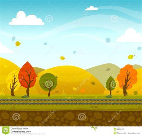 desenho 2d 2d park landscape stock vector image 53068151