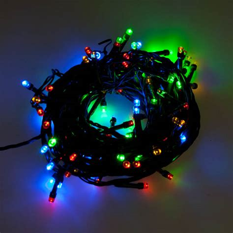 Outdoor Led Lights Battery Operated Noma 8m Length Of 96 Multi Coloured Indoor And Outdoor Multi Effect Battery Operated Led