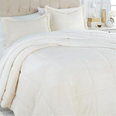 ivory comforter king soft cozy sherpa comforter set king ivory new ebay